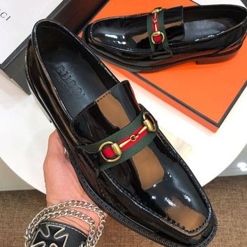DCCK Gucci Men's Fashion Leather Casual Sneakers Shoes