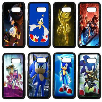Sonic the Hedgehog Series Phone Case for Samsung Galaxy A3 A5 A7 A8 2015 2016 2017 2018 Note 8 5 3 2 Shell Hard PC Palstic Cover