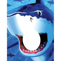 Photo Op Banner Shark Splash/Case of 6