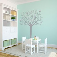 Spring Tree with Flowers - Vinyl Wall Art Decal for Homes, Offices, Kids Rooms, Nurseries, Schools, High Schools, Colleges, Universities