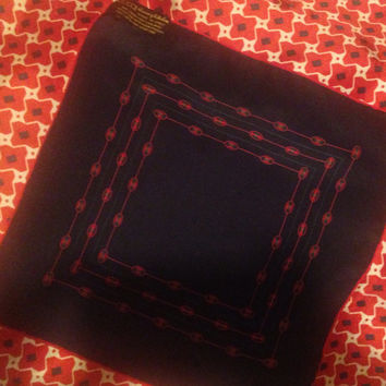 Gucci Navy Silk Handkerchief
