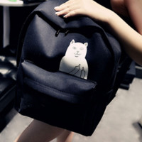 Canvas Cute Cats Casual Lovely Backpack | FREE SHIPPING = 4850463364