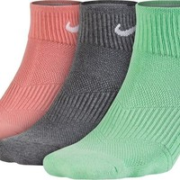 Nike Performance Cotton Cushioned Quarter Socks (3 Pairs)