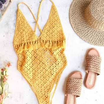 Somedays Lovin Mystifying Crochet One Piece Swimsuit