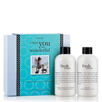 i think you are wonderful | fresh cream gift set | philosophy bath & body value sets