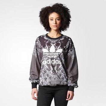 Women¡¯s Adidas Casual Retro Long Sleeve Top Sweater Pullover