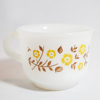 Pyr-o-rey Brown Floral Cups