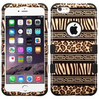 MYBAT TUFF Hybrid iPhone 6 Plus Case - Zebra-Leopard/Black