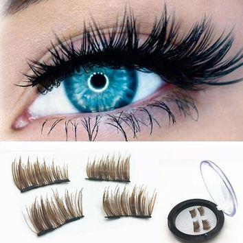 1 Pair natural false eyelashes thick makeup real 3D mink lashes eyelash extension non magnetic fake lashes long mink eyelashes