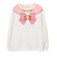Sailor Moon Harajuku Sweater Print Top Cute Kawaii Cosplay Japan Anime