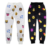 Men Women White EMOJI Funny Autumn Winter Printed Thicken 3D Jogger Pants S-XL