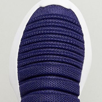 adidas Originals Crazy 1 Adv Sock Primeknit Sneakers In Blue at asos.com