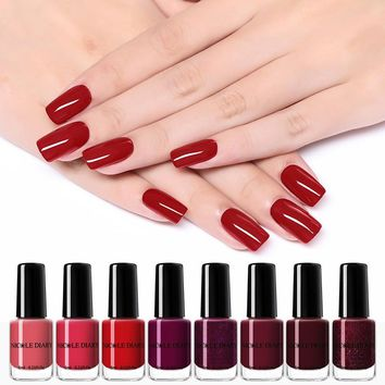 NICOLE DIARY Peel Off Nail Polish Super Glitter Shinning Nail Art Lacquer Water Base Manicure Varnish Easy to Remove Primer