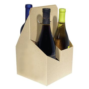 4 Bottle Open Wine Carrier