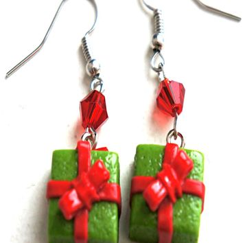 Christmas Present Dangle Earrings