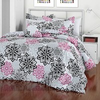 iTEEN Vivi Reversible Comforter Set (Black)