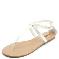 T-STRAP THONG SANDALS