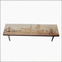 San Francisco bench | reclaimed wood | urban living furniture