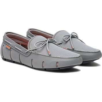 Men's Stride Lace Loafer in Gray & Gray Fleck by SWIMS