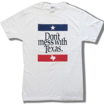 Don't Mess With Texas Flag USA America T Shirt Tee Unisex