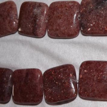 Sandstone square beads, 20mm squares gemstones, jewelry making supplies
