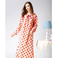 2017 Fashion Autumn Winter Women Nightwear Dress Velvet Long Sleeve Flannel Sexy Nightgown Long Nightgown Sleepwear Plus Size