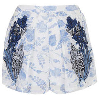 MULTI FLORAL EMBROIDERED SHORTS