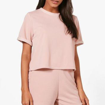 Honey T-Shirt & Short Loopback Set | Boohoo