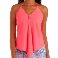 Chiffon Handkerchief Halter Top by Charlotte Russe