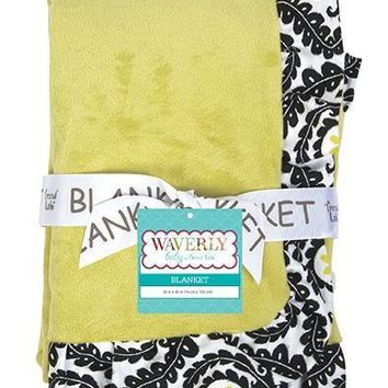 Receiving Blanket - Ruffle Trimmed Waverly¨ Rise And Shine