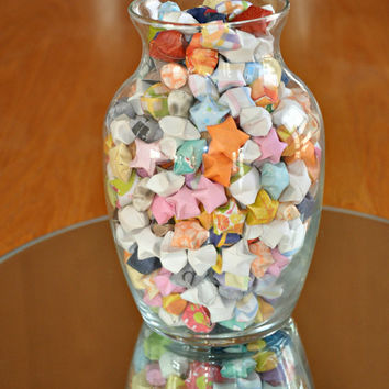 400 Lucky Stars - Origami in a vase - Wishing Star Jar - Handmade by The Hippie Patch - Wandering & Affirmation