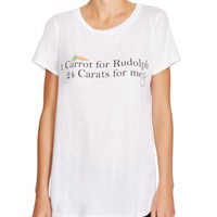 WILDFOX Carrot For Rudolph Tee | Bloomingdales's