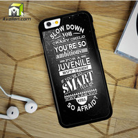 Billy Joel Typography iPhone 6 Plus Case by Avallen
