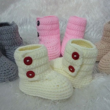 Newborn Baby Infant Handmade Knit Crochet Photograph Prop Shoes = 1958308100