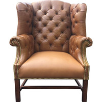 Vintage Chesterfield Wing Back Chair