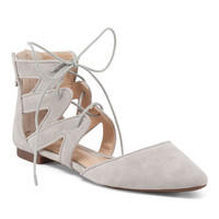 Suede Ankle Laced Flats - Flats - T.J.Maxx