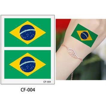 World Cup National Flag Temporary Tattoo