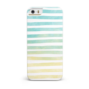 Green WaterColor Ombre Stripes INK-Fuzed Case for the iPhone 5/5S/SE