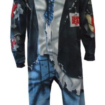 The Walking Dead Gruesome Zombie Onesuit Footed Pajama for men