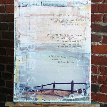 Under the Open Sky No 2  Original Mixed Media by maechevrette