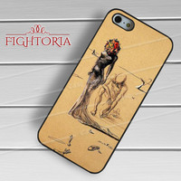 Woman with Flower Head Painting salvador dali - zFzF for  iPhone 4/4S/5/5S/5C/6/6+s,Samsung S3/S4/S5/S6 Regular/S6 Edge,Samsung Note 3/4