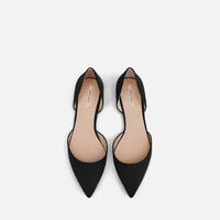 D'ORSAY FLATS WITH METAL DETAIL