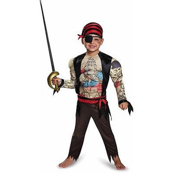 Disguise Costumes Pirate Toddler Muscle Dress Up / Role Play Costume 3T-4T
