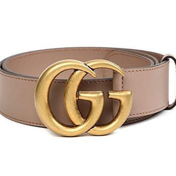 One-nice™ Wiberlux Gucci Men's GG Buckle Real Leather Strap Belt