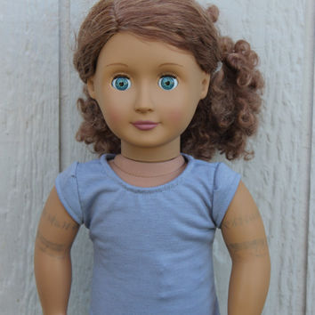 American Girl Doll Grey Short Sleeved Shirt