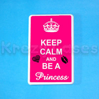 Kindle Fire Case -Keep calm and be a princess kindle fire case- Amazon Kindle fire HD case