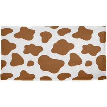 CREYCY8 Halloween Costume Brown Spot Cow All Over Beach Towel