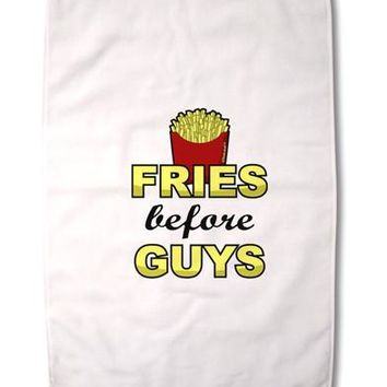 "Fries Before Guys Premium Cotton Sport Towel 16""x25 by TooLoud"