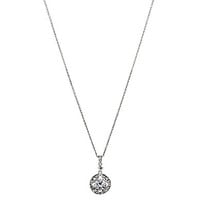 Nadri Clear CZ Pendant Necklace