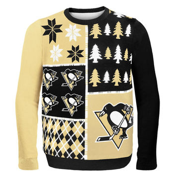 Pittsburgh Penguins - Busy Block Ugly Christmas Sweater